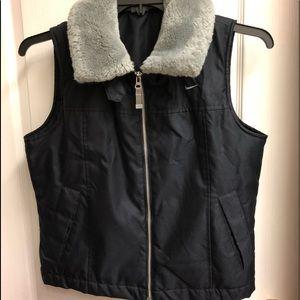 New Nike faux fur collar vest